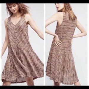 NWOT Anthropologie Maeve Chevron Sleeveless Dress